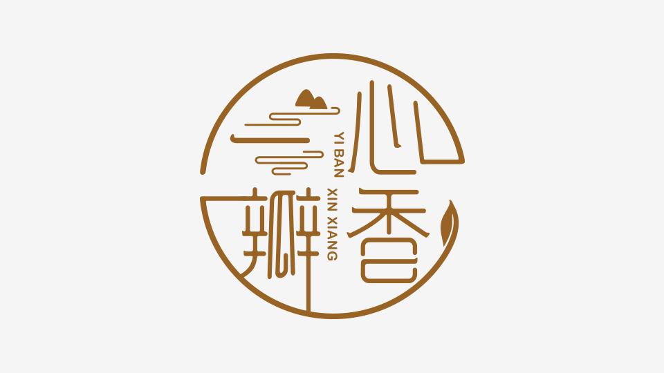 一瓣心香品牌标志设计
