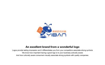 物流公司卡通logo设计案例
