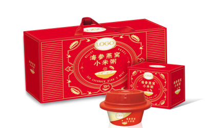 海參小米粥包裝設計