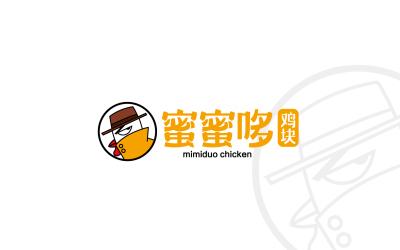 蜜蜜哆鸡块标志设计