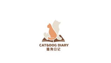 猫狗日记品牌LOGO设计