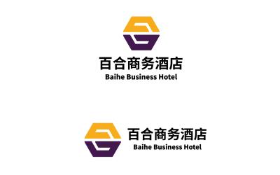 百合酒店logo设计