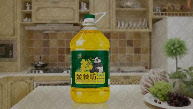 金食坊食用油品牌包装设计入围方案0