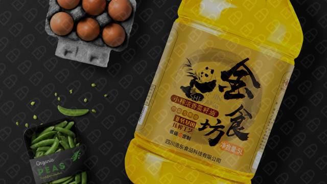金食坊食用油品牌包装设计入围方案1