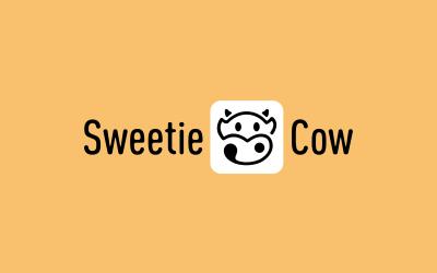 甜蜜奶牛饮品标志设计