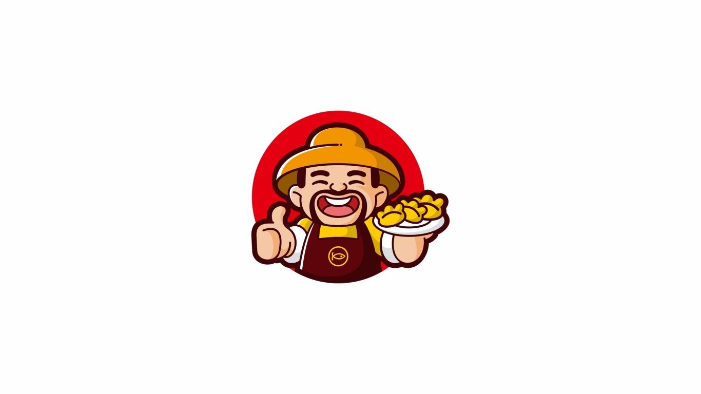 渔哥鲜饺品牌LOGO设计中标图0