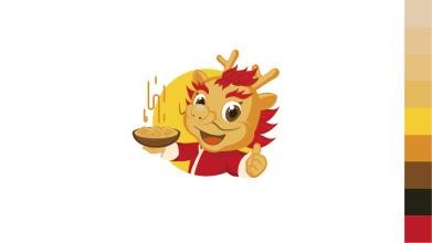 龙梦圆食品品牌LOGO设计