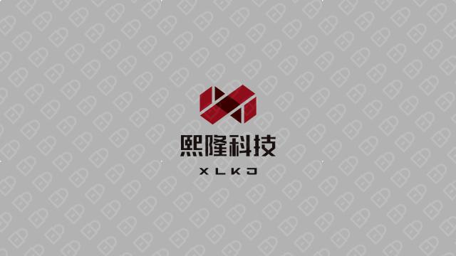 熙隆科技品牌LOGO设计入围方案1