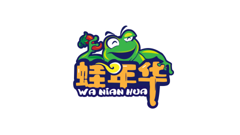 蛙年华品牌LOGO设计