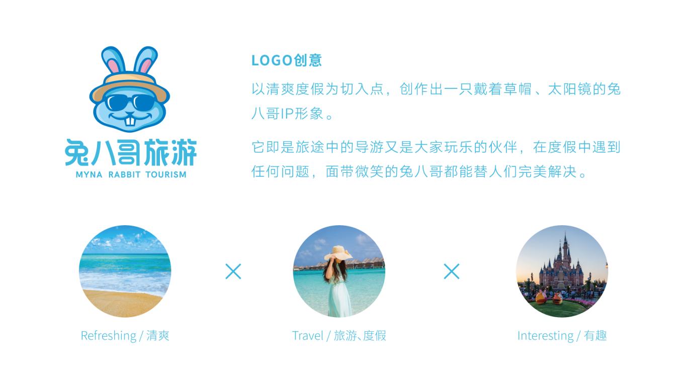 兔八哥旅游品牌LOGO设计中标图1