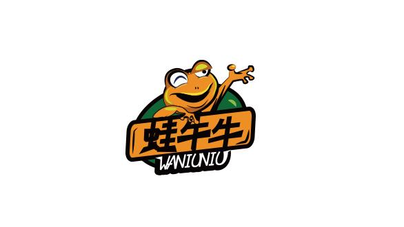 蛙牛牛餐饮品牌LOGO设计