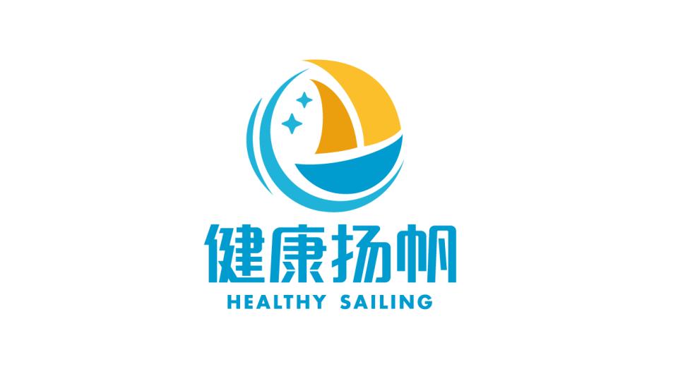 健康杨帆品牌LOGO设计