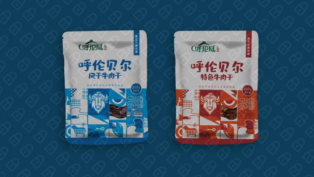 呼伦风牛肉干品牌包装设计入围方案0