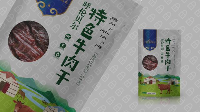 呼伦风牛肉干品牌包装设计入围方案6