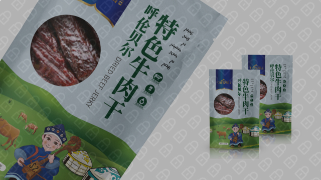 呼伦风牛肉干品牌包装设计入围方案4