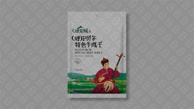 呼伦风牛肉干品牌包装设计入围方案3