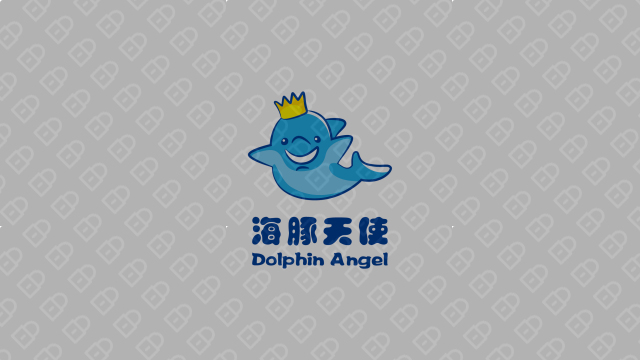 海豚天使公司LOGO设计入围方案3