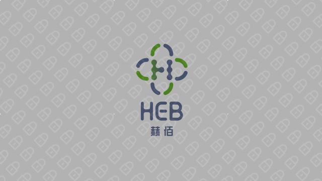 赫佰生物科技公司LOGO设计入围方案2