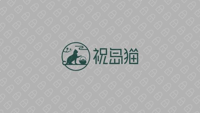 祝岛猫餐饮品牌LOGO设计入围方案4