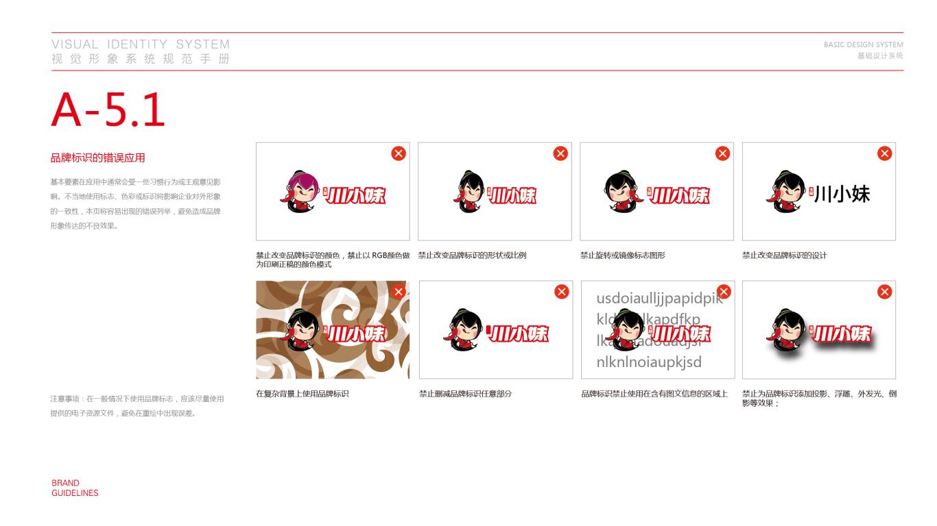 川小妹餐饮品牌VI设计中标图17