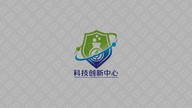 湖南中医药大学科技创新中心LOGO设计入围方案7