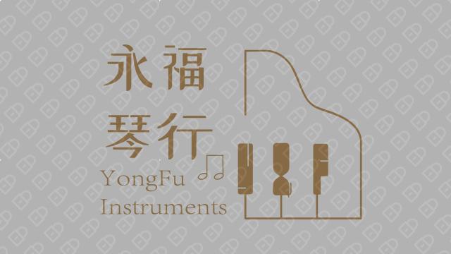 咏福琴行品牌LOGO设计入围方案10
