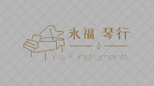 咏福琴行品牌LOGO设计入围方案9