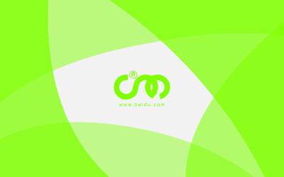 绿色小清新科技互联网名片