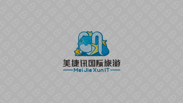 美捷讯旅游品牌LOGO设计入围方案2