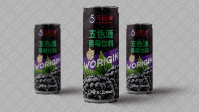 五色源黑莓饮料品牌包装设计入围方案0