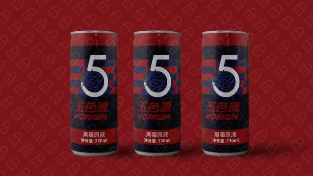 五色源黑莓饮料品牌包装设计入围方案3
