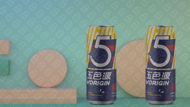 五色源黑莓飲料品牌包裝設計入圍方案1
