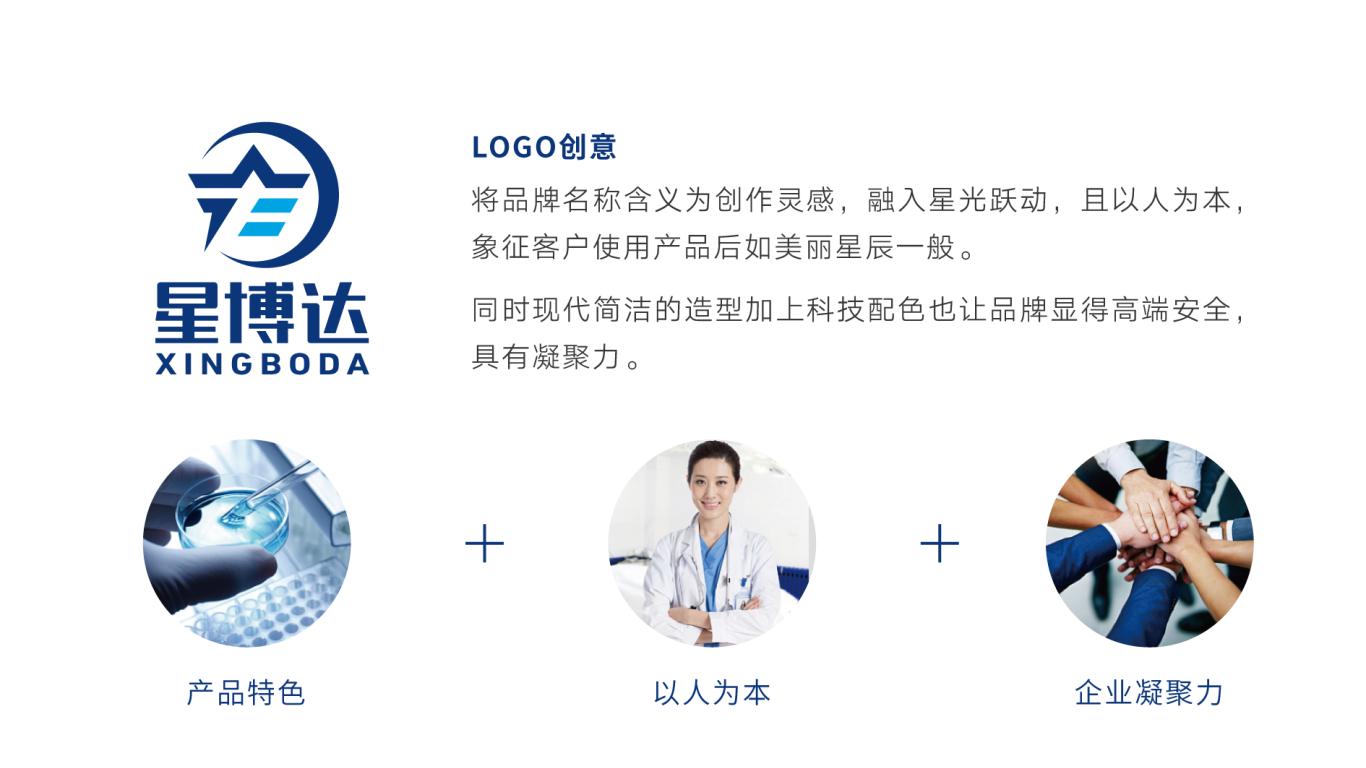 星博达生物公司LOGO设计中标图1