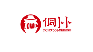 侗卜卜餐飲品牌LOGO設計