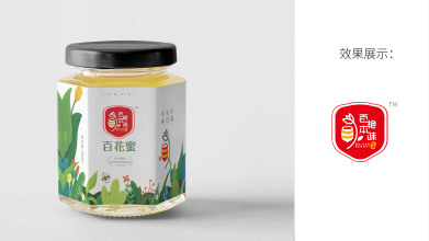 百艳本味蜂蜜品牌包装设计