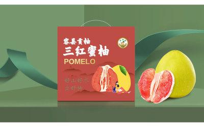 一款送禮用的高端蜜柚包裝設計