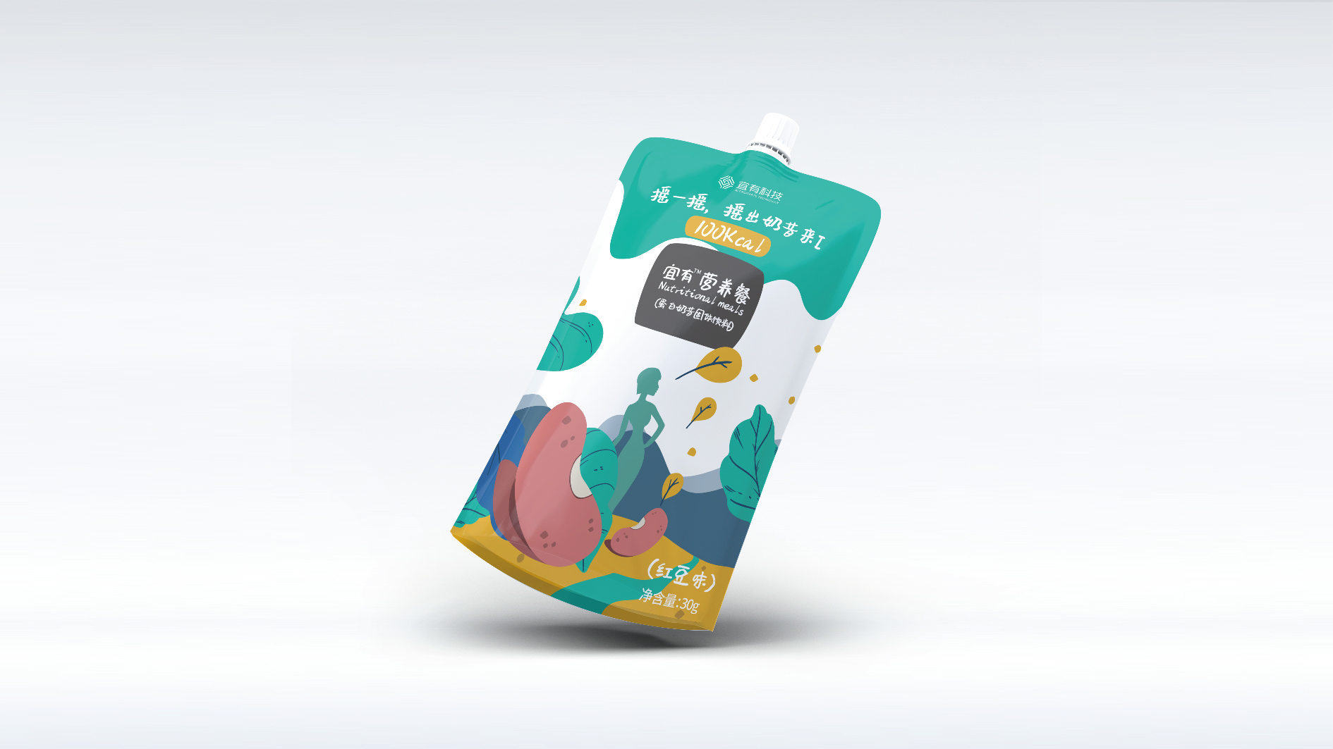 宜有代餐奶昔品牌包裝設計