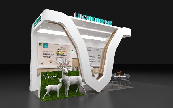 一个西餐具品牌的小展厅方案