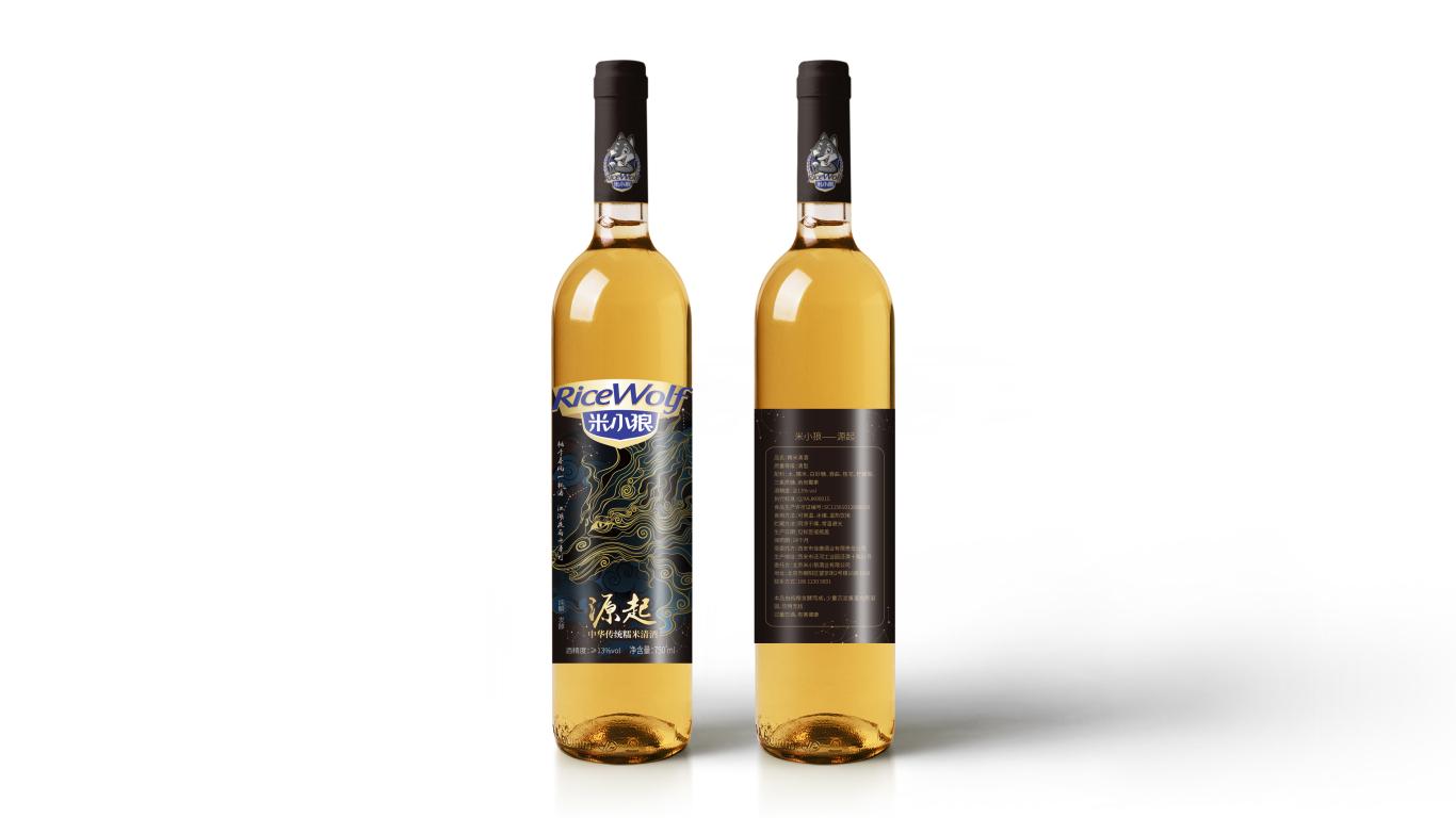 米小狼酒水品牌包裝設計中標圖0