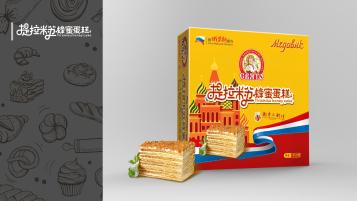 女王提拉米蘇蛋糕包裝設計