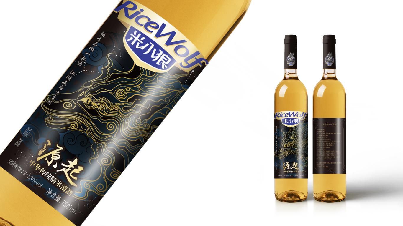 米小狼酒水品牌包裝設計中標圖1