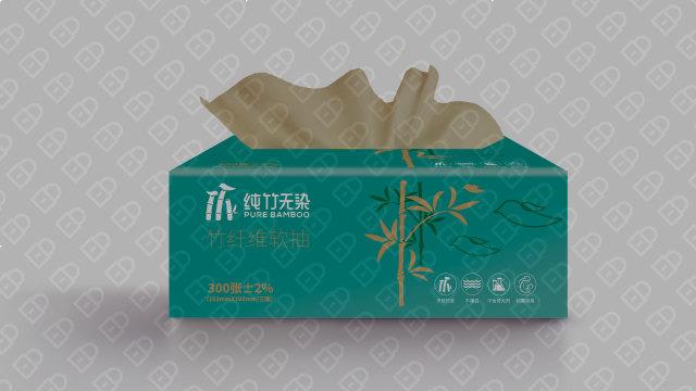 纯竹无染抽纸品牌包装设计入围方案2