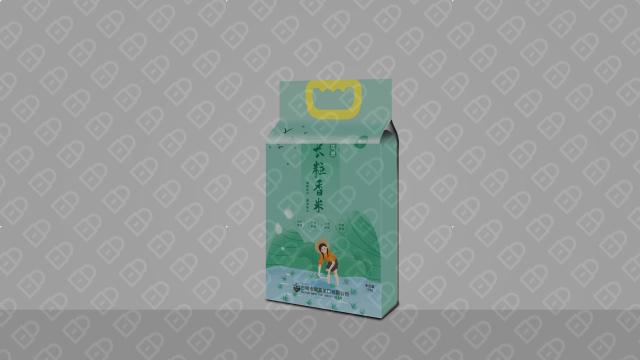集利长粒大米包装设计入围方案3