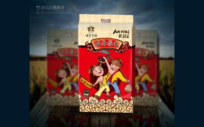 伍家有稻大米包裝設計