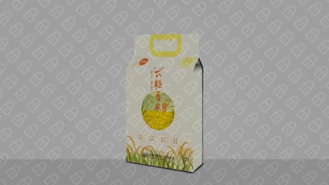 集利长粒大米包装设计入围方案2