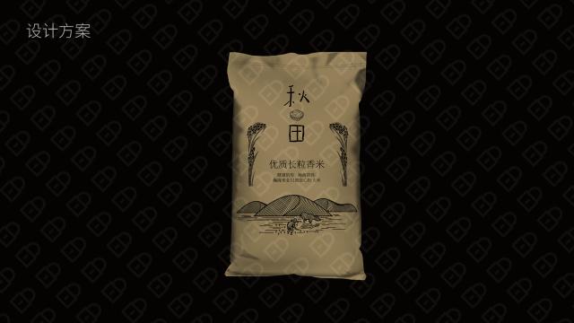 集利长粒大米包装设计入围方案1