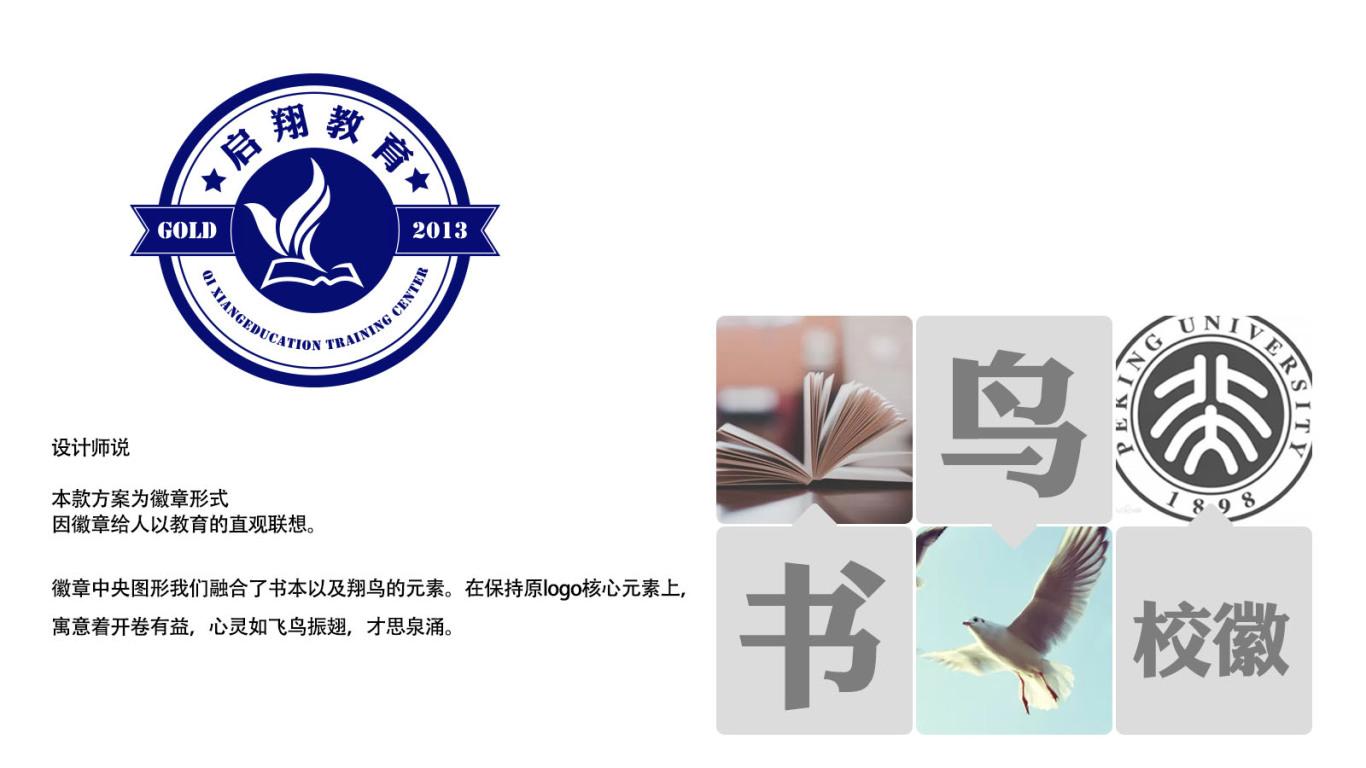 啟翔教育公司LOGO設計中標圖3