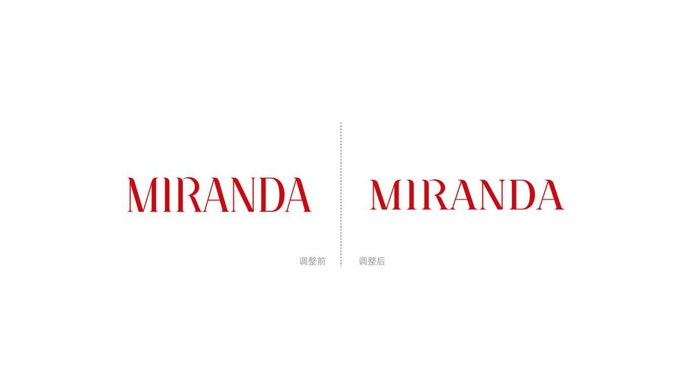 MIRANDA服装w88优德LOGO设计中标图2