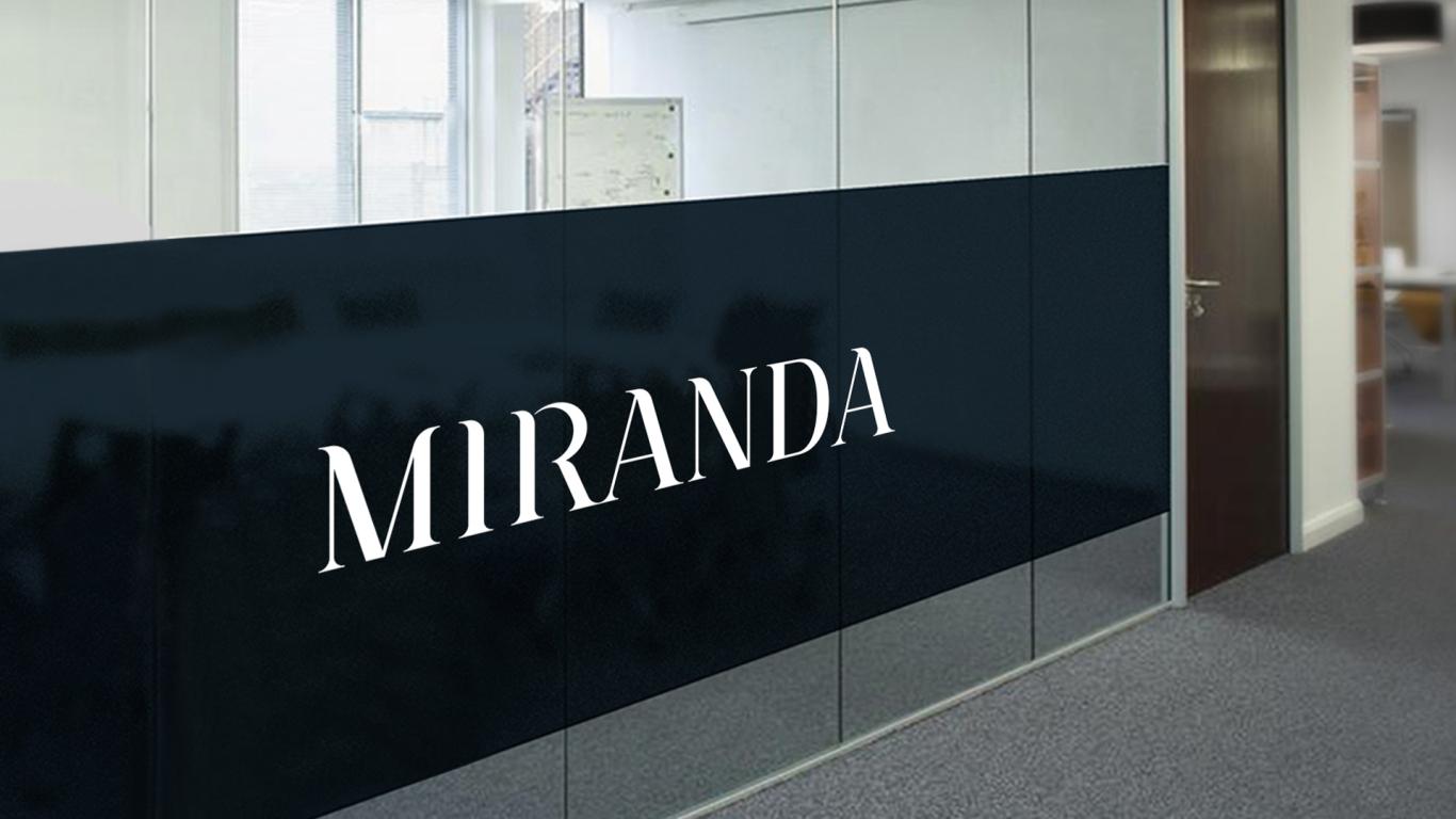 MIRANDA服装w88优德LOGO设计中标图3