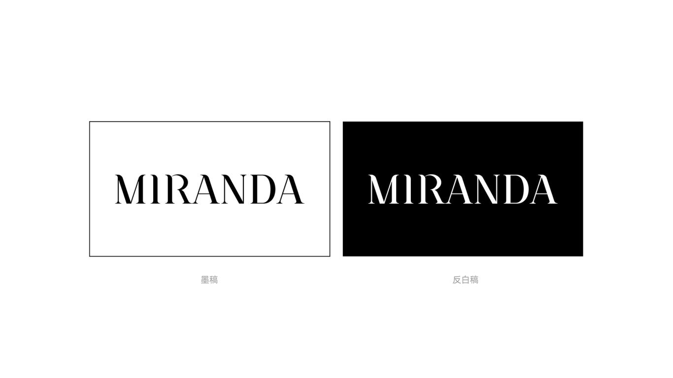 MIRANDA服装w88优德LOGO设计中标图1